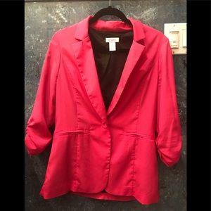 Ladies blazer in hot pink